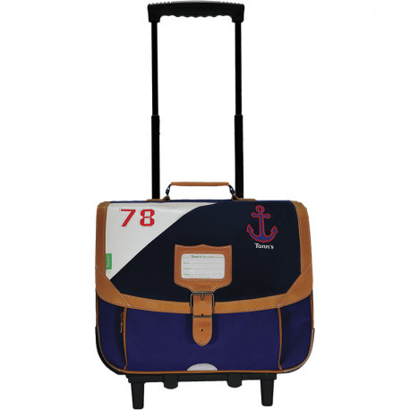 Cartable trolley Marin bleu