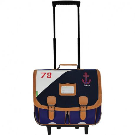 Cartable trolley Marin bleu