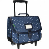 Cartable trolley Angèle pois