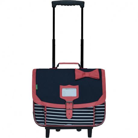 Cartable trolley Chloé marine
