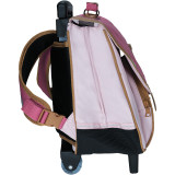 Cartable trolley Ninon rose