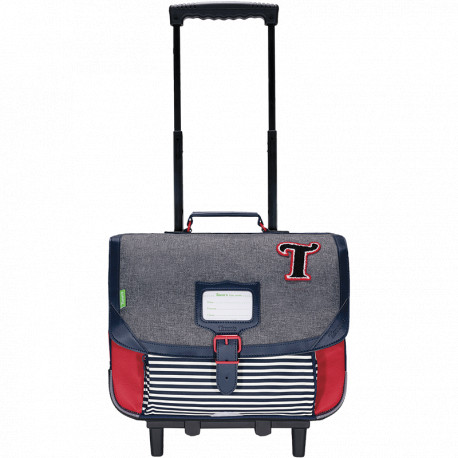 Cartable trolley Teddy chiné