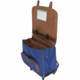 Cartable trolley Charlie bleu