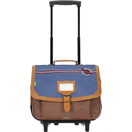 Cartable trolley Marley bleu