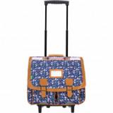 Cartable trolley Anna bleu