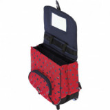 Cartable trolley Alice rouge