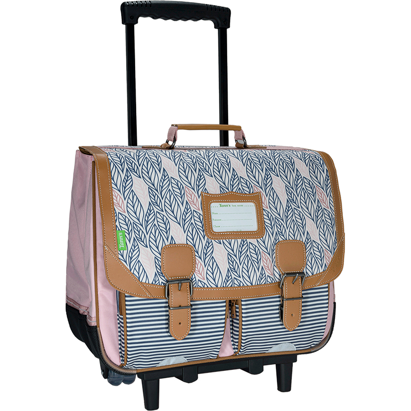 Cartable trolley 41 cm Flore